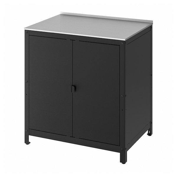 """GRILLSKÄR Kitchen island shelf unit, stainless steel, 33 7/8x24 """""""