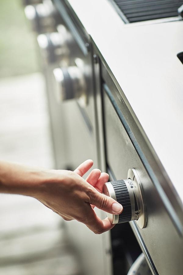 """GRILLSKÄR Outdoor kitchen, gas grill/side burner/stainless steel, 81 1/8x24 """""""
