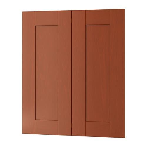 Grimsl 214 V 2 P Door Corner Base Cabinet Set Ikea