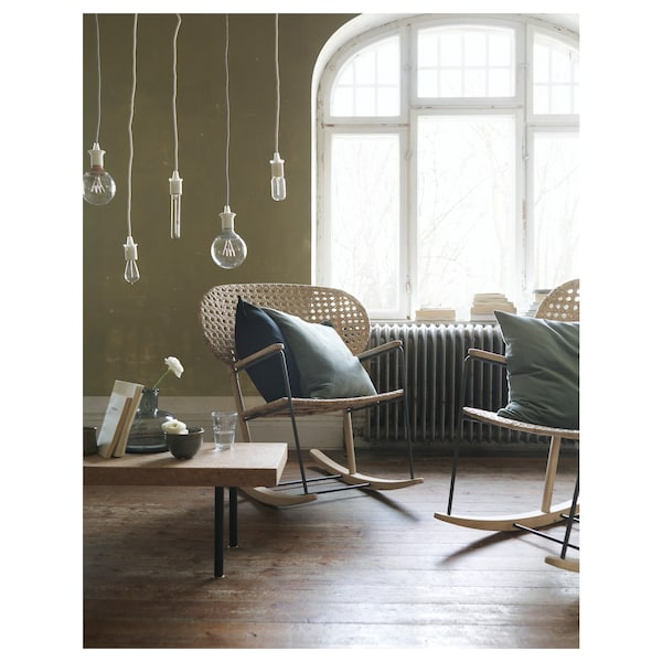 Gronadal Rocking Chair Gray Natural Ikea