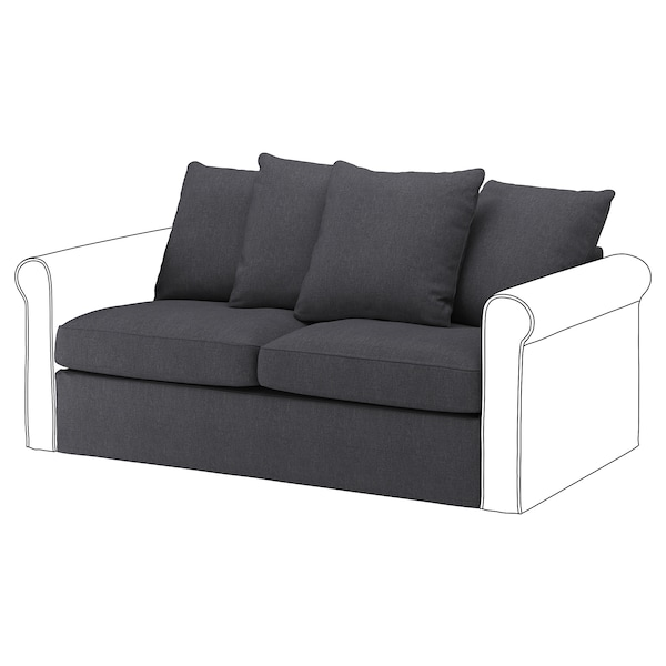 Fabulous Loveseat Sleeper Section Gronlid Sporda Dark Gray Andrewgaddart Wooden Chair Designs For Living Room Andrewgaddartcom