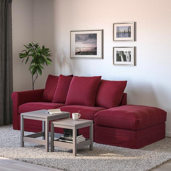 Admirable Sleeper Sofa Gronlid With Open End Ljungen Dark Red Short Links Chair Design For Home Short Linksinfo