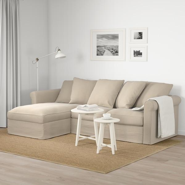 "GRÖNLID sofa with chaise/Sporda natural 41 "" 64 5/8 "" 101 5/8 "" 38 5/8 "" 49 5/8 "" 2 3/4 "" 7 1/8 "" 26 3/4 "" 87 3/8 "" 23 5/8 "" 19 1/4 """