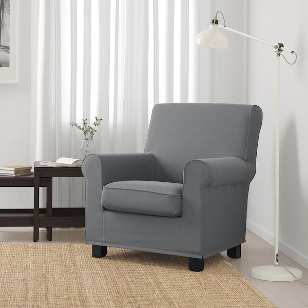 GRÖNLID Armchair, Ljungen medium gray