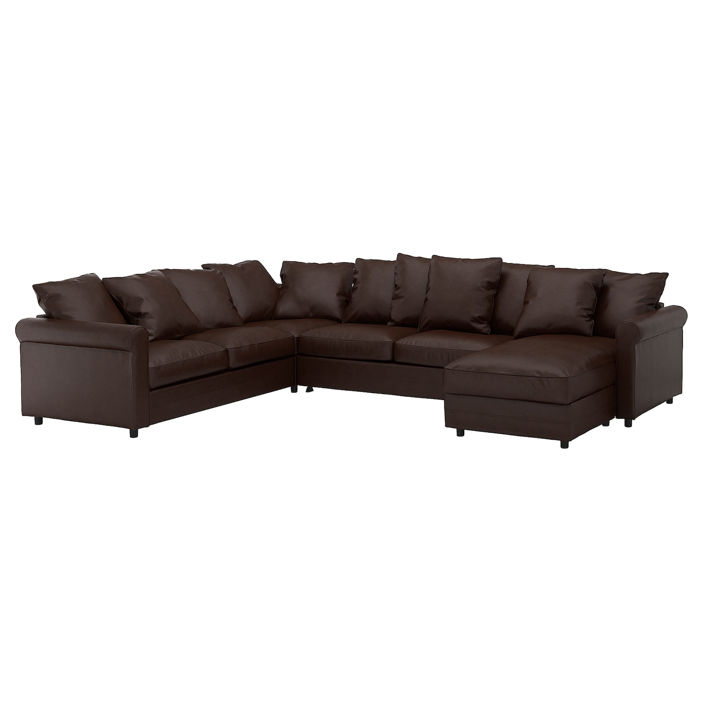Corner Sleeper Sofa 5 Seat Gronlid With Chaise Kimstad Dark Brown