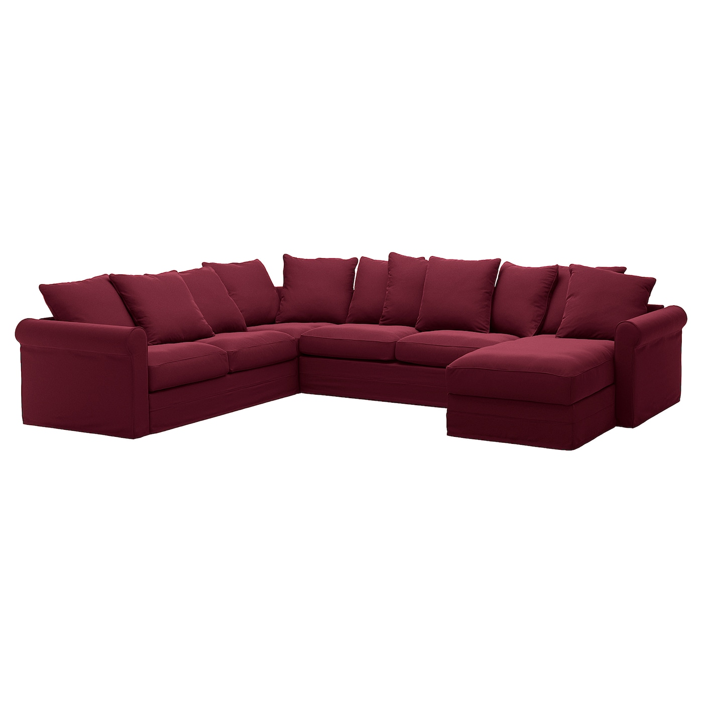 Corner Sleeper Sofa 5 Seat Gronlid With Chaise Ljungen Dark Red