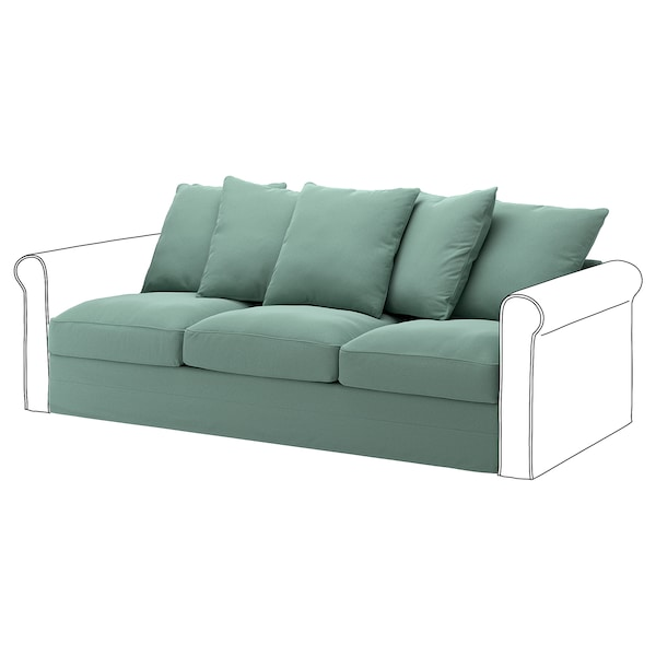 Pleasing Cover For Sofa Section Gronlid Ljungen Light Green Machost Co Dining Chair Design Ideas Machostcouk