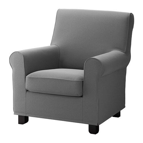 Gronlid Armchair Ljungen Medium Gray Ikea