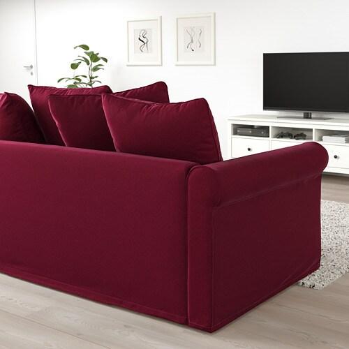 GRÖNLID Sleeper sofa - with open end/Inseros white - IKEA