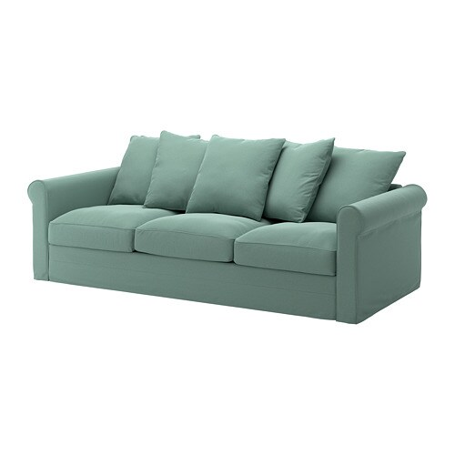 groenlid sofa ljungen light green ikea