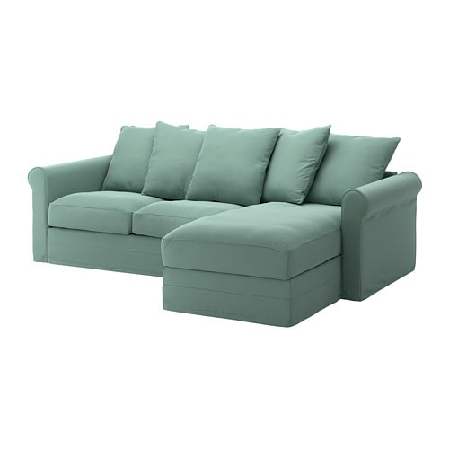 groenlid sofa  chaiseljungen light green ikea