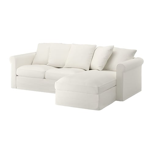 GRÖNLID Sofa - with chaise/Inseros white - IKEA