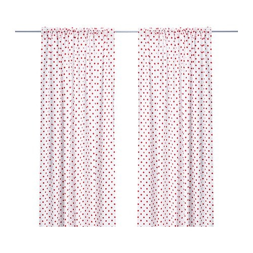 GRÖNSKA PRICKAR Pair of curtains IKEA