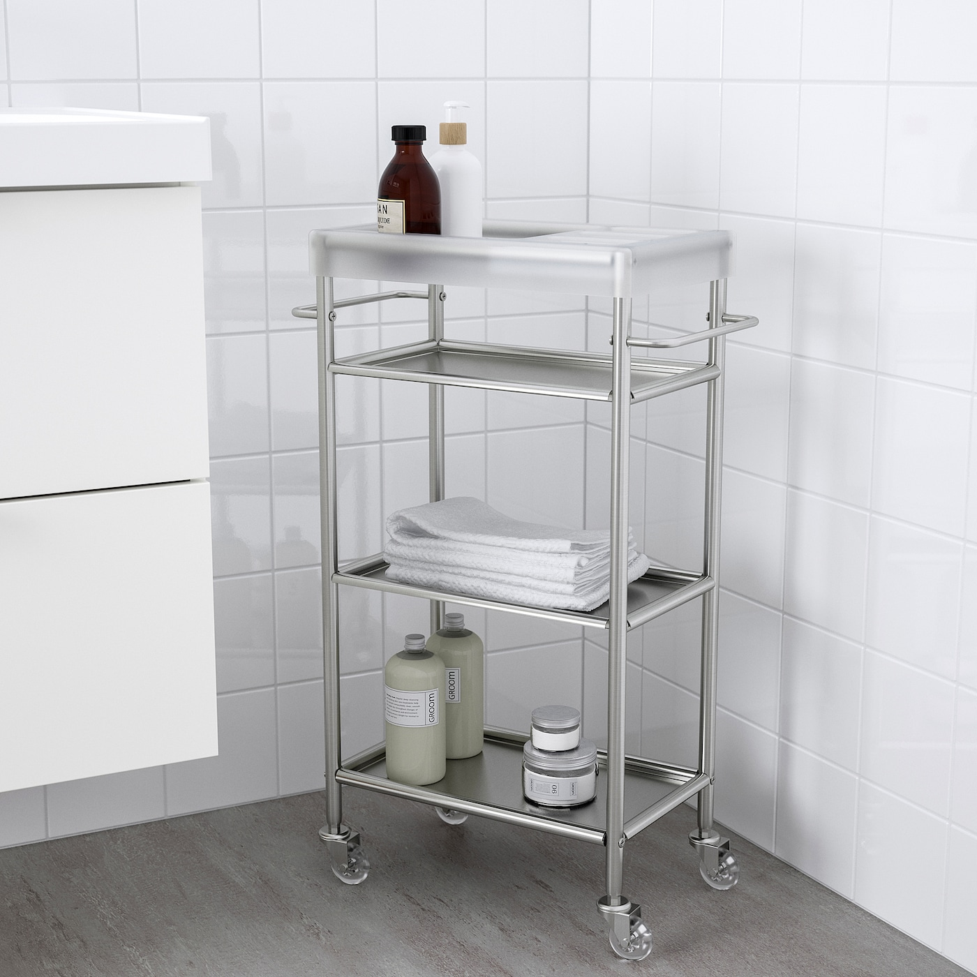 Grundtal Cart Stainless Steel 18 7 8x9 1 2x30 3 8 Ikea