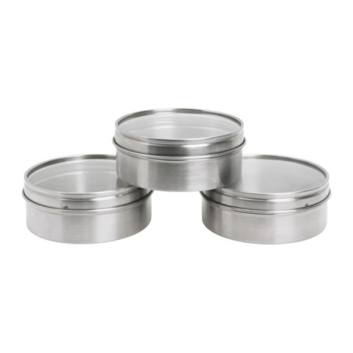 "GRUNDTAL Container  Diameter: 3 3/4 "" Height: 1 1/2 "" Package quantity: 3 pack  Diameter: 9.5 cm Height: 3.7 cm Package quantity: 3 pack"