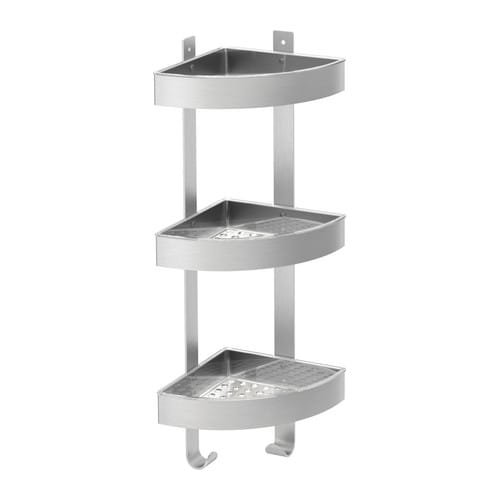 Naadloos Plafond Badkamer ~ Ikea Shower GRUNDTAL Corner wall shelf unit, stainless steel 22  Bath