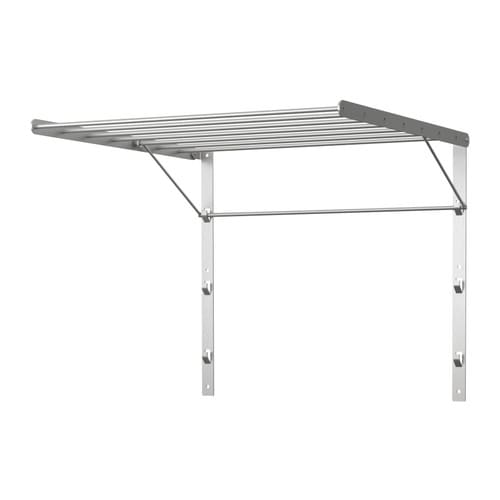 Grundtal drying rack wall stainless steel drying racks for Sechoir a linge mural escamotable