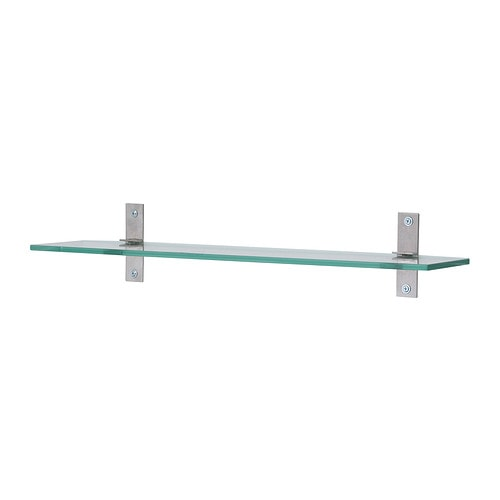 Grundtal glass shelf 23 5 8 ikea for Bathroom glass shelves