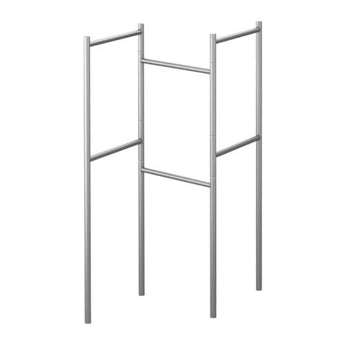 GRUNDTAL Towel stand, stainless steel stainless steel -