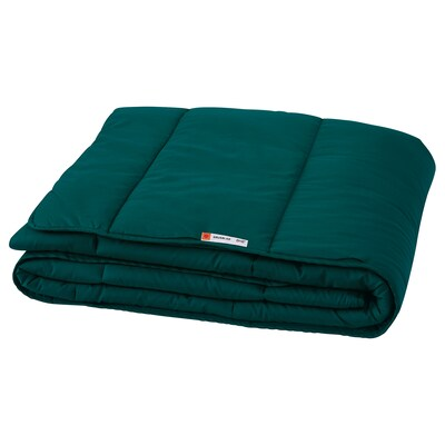 GRUSBLAD Comforter, warmer, dark blue-green, Full/Queen