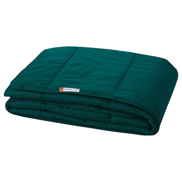 GRUSBLAD Comforter, warmer, dark blue-green, Twin