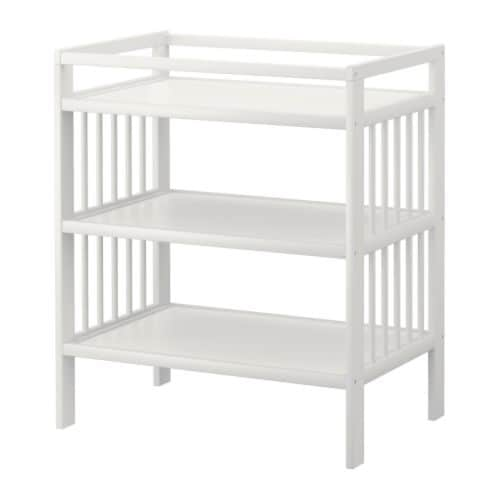 GULLIVER Changing table IKEA Comfortable height for changing the baby.  Practical storage space within close reach.