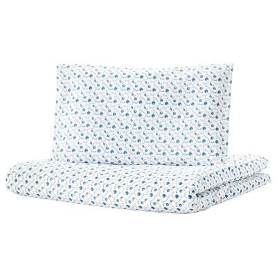 "GULSPARV Crib duvet cover/pillowcase, blueberry patterned, 43x49/14x22 """