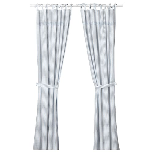 IKEA GULSPARV Curtains with tie-backs, 1 pair