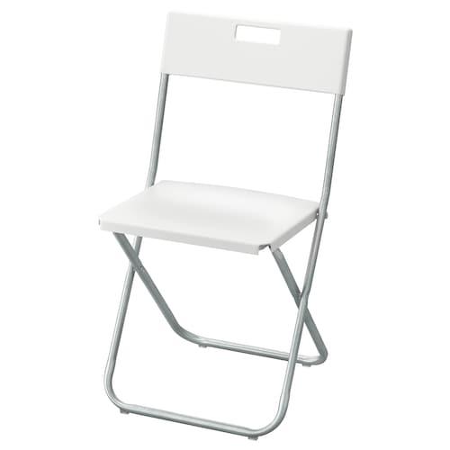 "GUNDE folding chair white 220 lb 16 1/8 "" 17 3/4 "" 30 3/4 "" 14 5/8 "" 13 3/8 "" 17 3/4 """