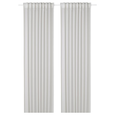 "GUNRID air purifying curtain, 1 pair light gray 98 "" 57 "" 2 lb 0 oz 39.07 sq feet 2 pack"