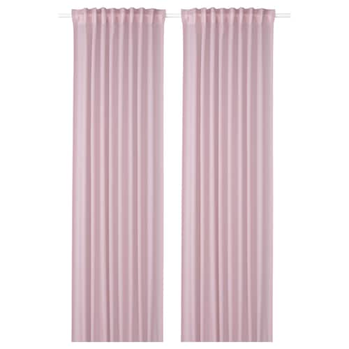 """GUNRID air purifying curtain, 1 pair light pink 98 """" 57 """" 2 lb 0 oz 39.07 sq feet 2 pack"""