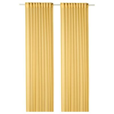 """GUNRID air purifying curtain, 1 pair yellow 98 """" 57 """" 2 lb 0 oz 39.07 sq feet 2 pack"""