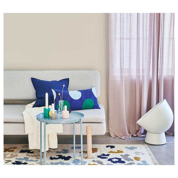 "GURLI Cushion cover, dark blue, 20x20 """