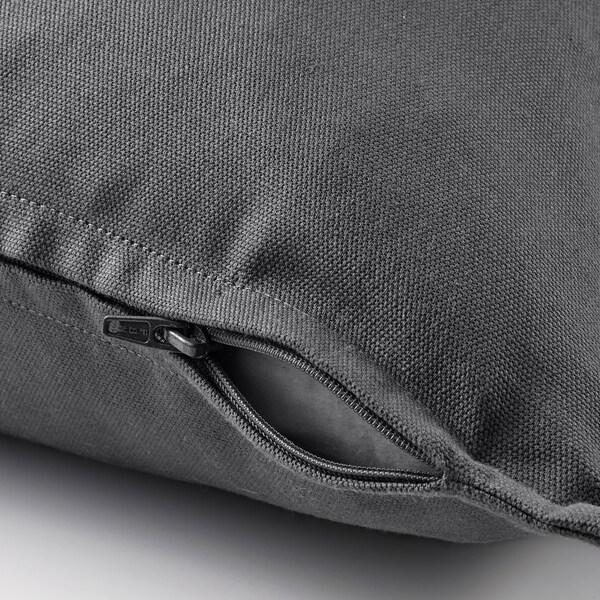 "GURLI Cushion cover, dark gray, 20x20 """