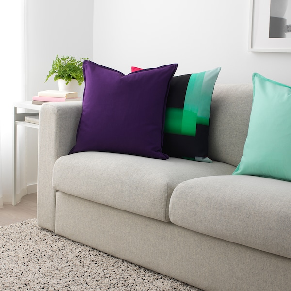 GURLI Cushion cover, dark lilac, 20x20 ""