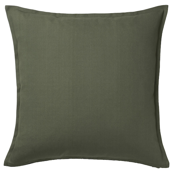 """GURLI Cushion cover, deep green, 20x20 """""""