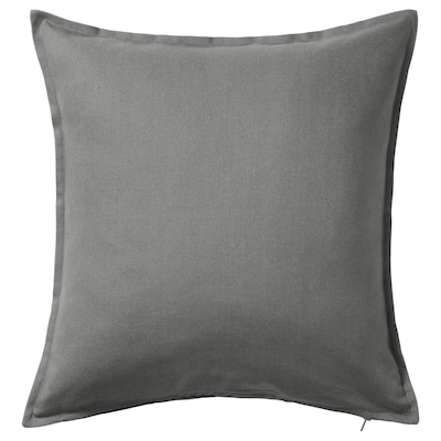"GURLI Cushion cover, gray, 20x20 """