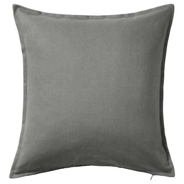 "GURLI Cushion cover, gray, 26x26 """