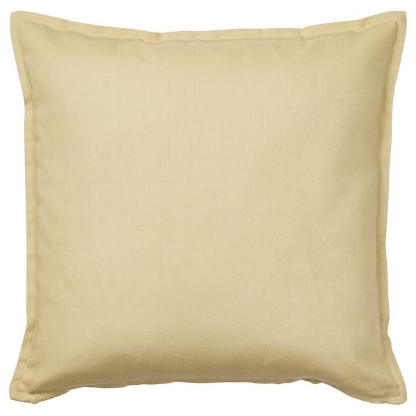 "GURLI Cushion cover, light beige-green, 20x20 """