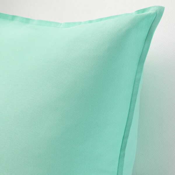 "GURLI Cushion cover, light turquoise-green, 20x20 """