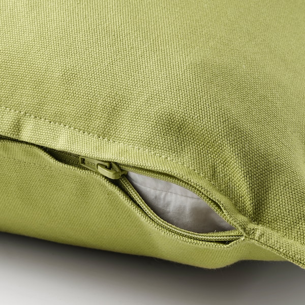 GURLI Cushion cover, olive-green, 20x20 ""