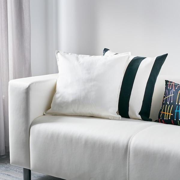 "GURLI Cushion cover, white, 20x20 """