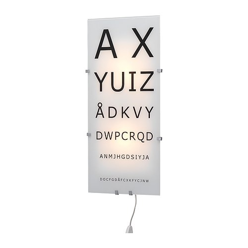 Eye Chart Lamp Ikea