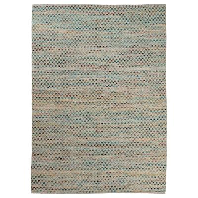 "GYRSTINGE Rug, flatwoven, handmade multicolor/green, 5 ' 7 ""x7 ' 10 """