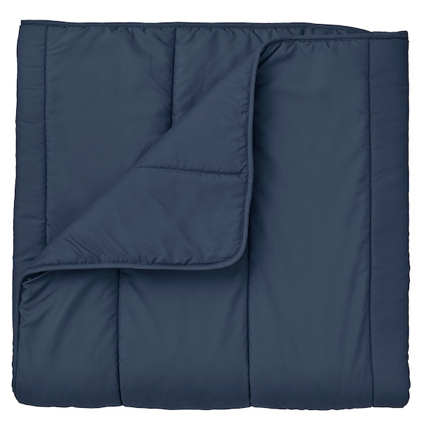 HÄLLESPRING Comforter set, dark blue cooler, Full/Queen