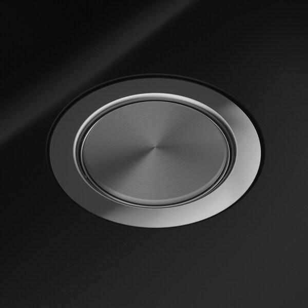"HÄLLVIKEN sink black/quartz composite 7 1/8 "" 19 5/8 "" 13 3/4 "" 19 1/8 "" 21 1/2 "" 19 5/8 "" 22 "" 19 5/8 "" 7 5/8 "" 8 gallon"