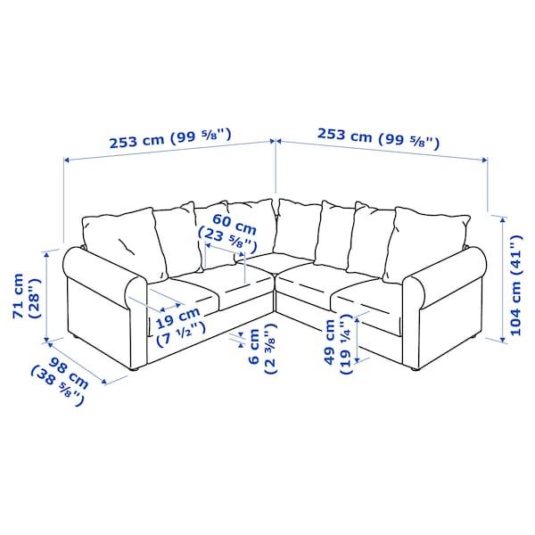 HÄRLANDA Sectional, 4-seat corner, Inseros white