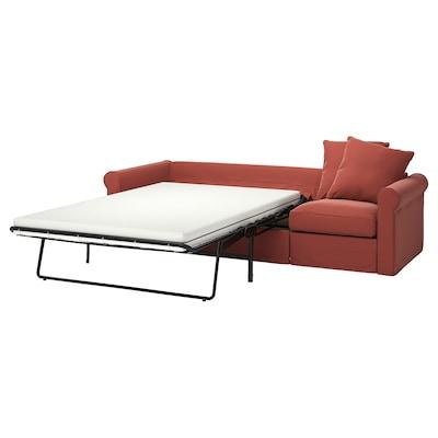 HÄRLANDA Sleeper sofa, Ljungen light red