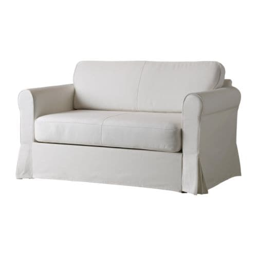 HAGALUND Sofa bed IKEA Storage space under the seat.  Easy to keep clean with a removable,machine washable cover.  Easily converts into a bed.