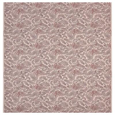 """HAKVINGE Fabric, natural dark red/leaf patterned, 59 """""""